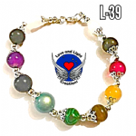 Chakra Crystal Bracelet. with meaning sheet